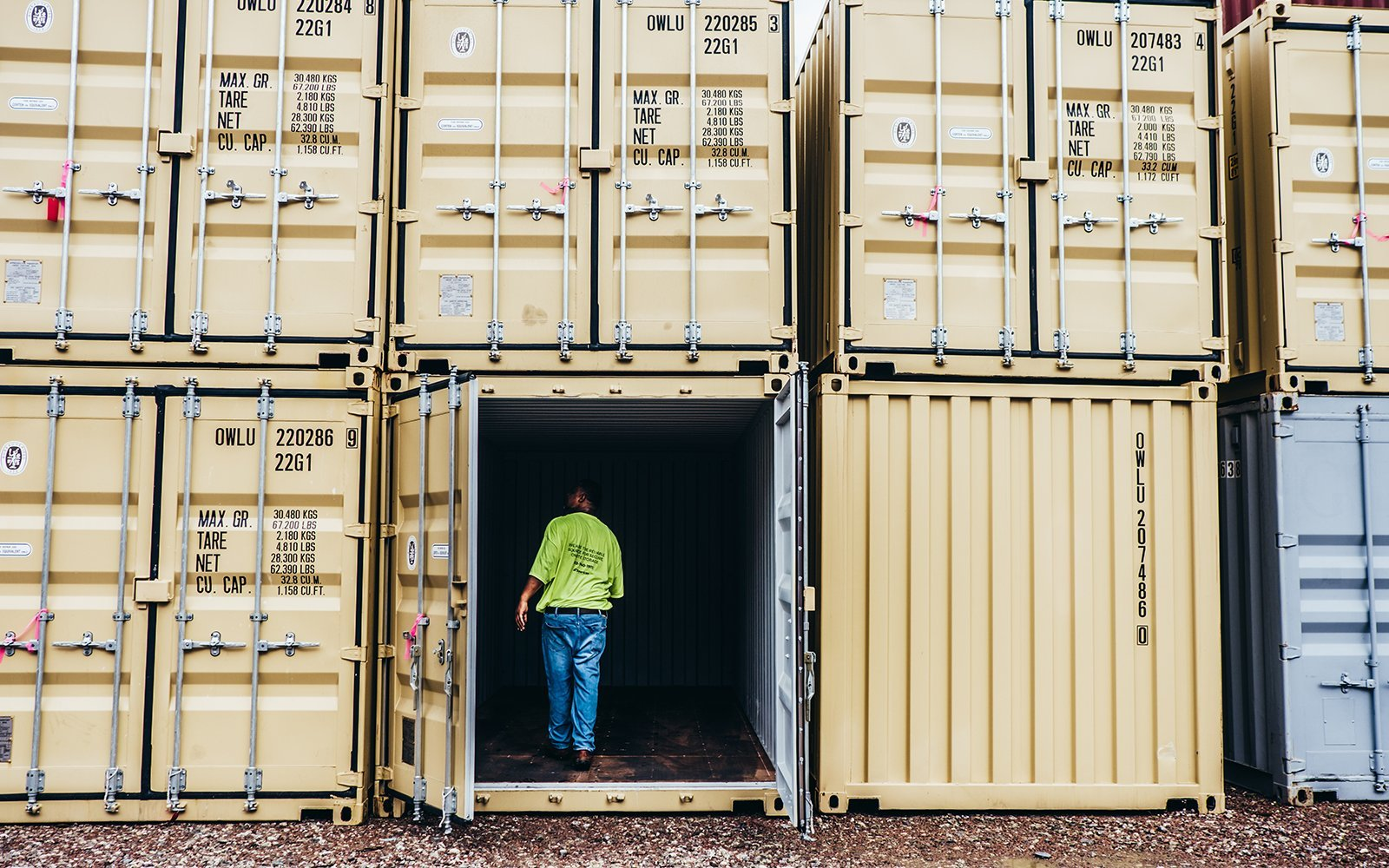 A American Container's open door