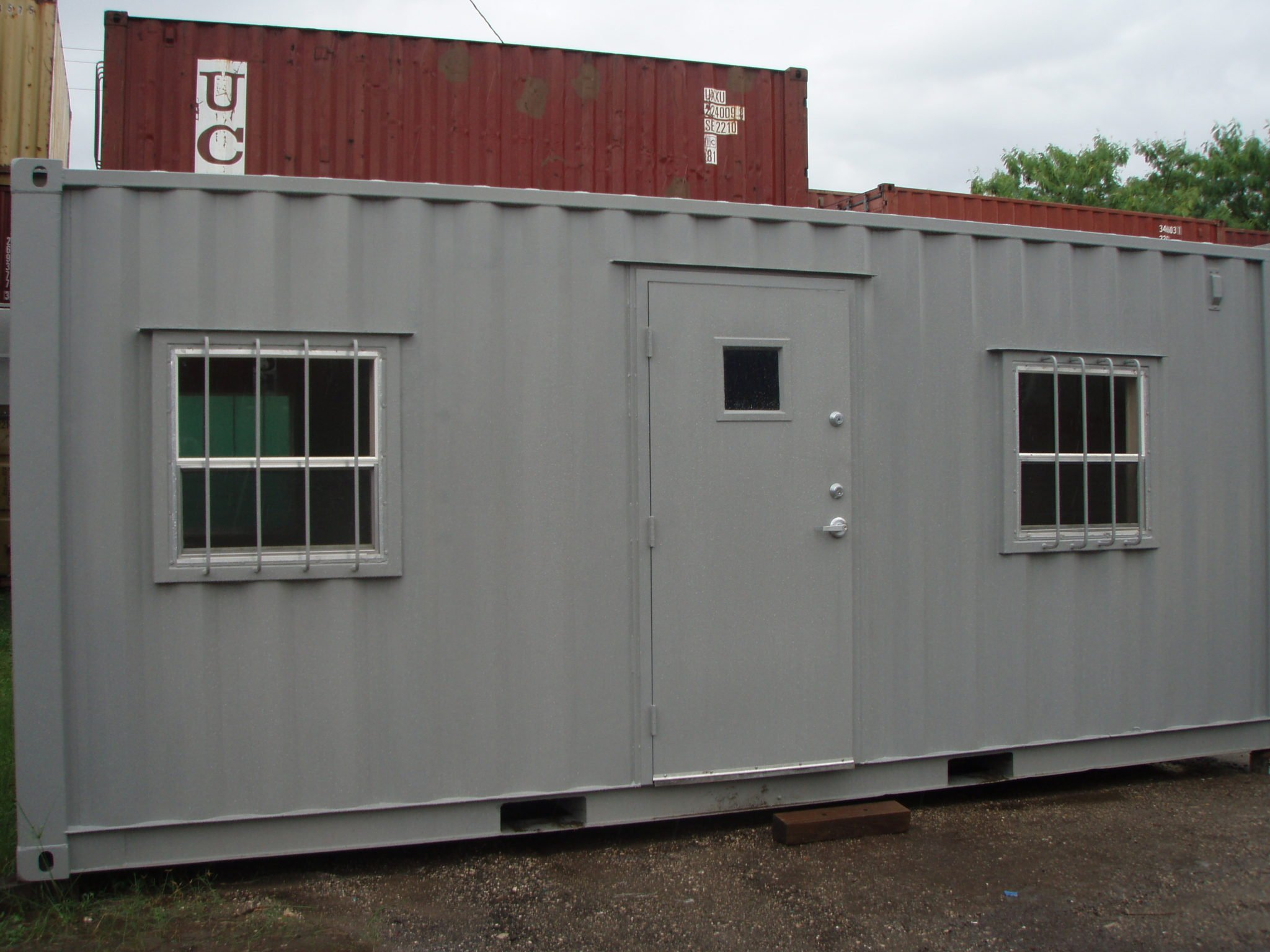 A American Container's 20 foot office front old style