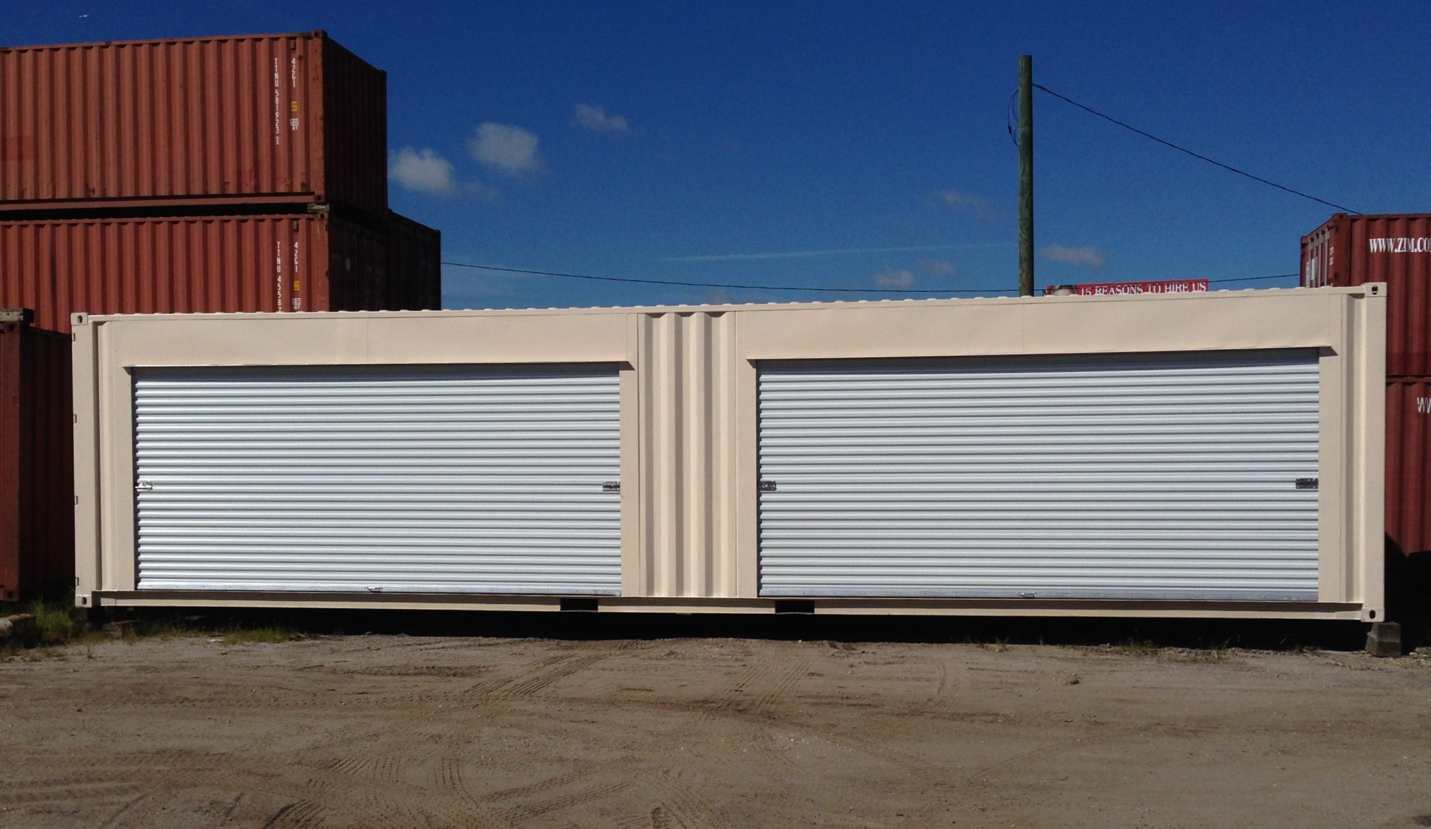 A American Container's Double 16' Roll Up Doors
