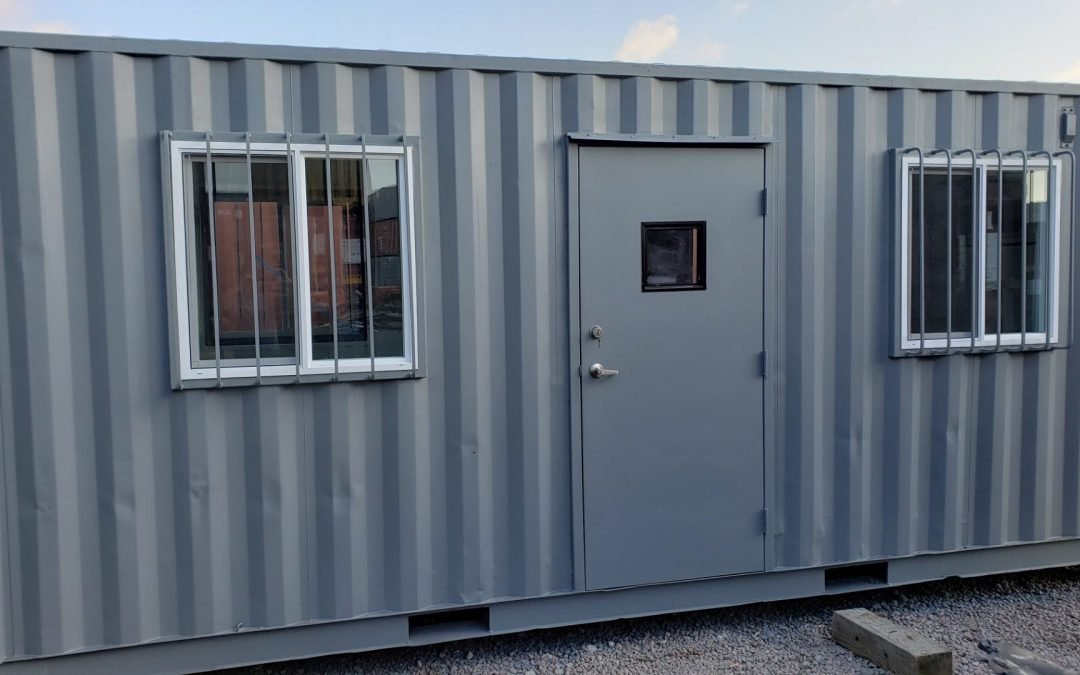 A American Container's 20 foot office front